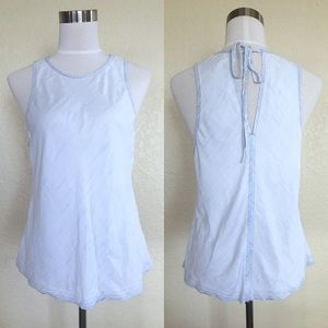 Cloth & Stone Chambray Tank Top with Tie Back